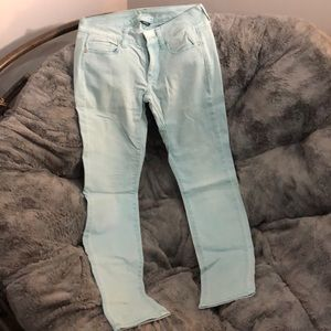 American Eagle Mint Colored Skinny Jeans